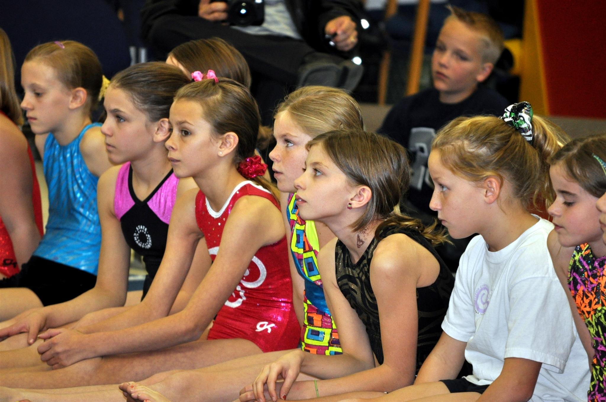 Bela-Karolyi-visits-Chameleon-Gymnastics